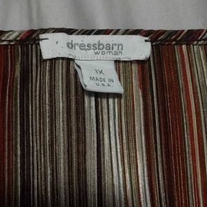 Dress Barn Tops - Multicolor pleated Blouse 1x like new